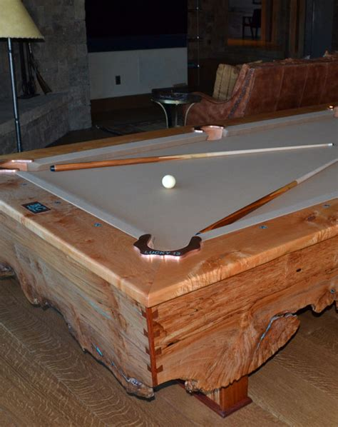 handcrafted custom pool tables by roaring fork custom