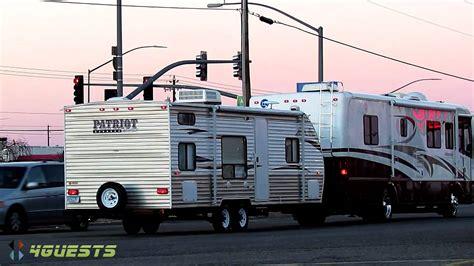 travel trailer removal ambassador rv pulling patriot edition travel trailer
