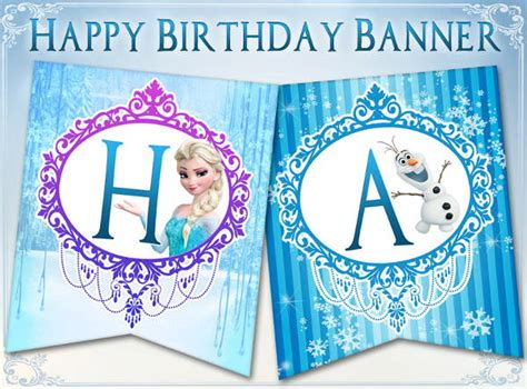free printable olaf birthday banner 6 frozen party banners design templates free