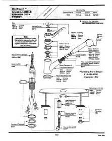 parts kitchen faucet further kohler shower repair diagram single handle bathroom