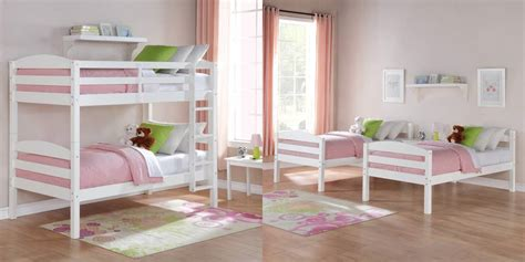 twin bunk bed for kids converts to two solid wood guard bunks or twin beds your choice