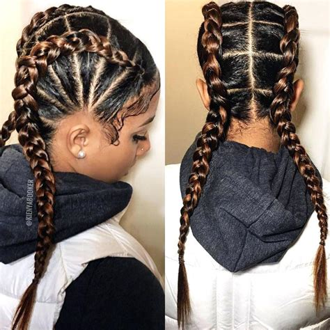 Braids Hairstyles For Black Without Weave by Emejing Black Braided Hairstyles With Weave Ideas Styles