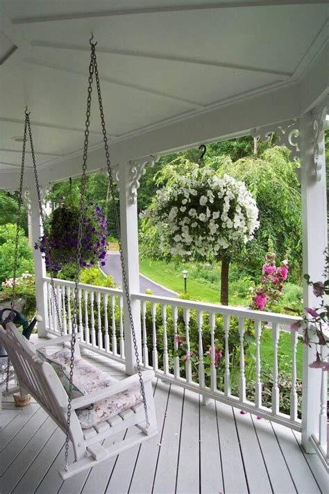 front yard swing front porch swing practically perfect porches pinterest