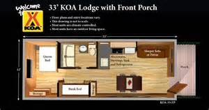 Cabin Layouts koa cabins perfect for first time and fearful campers