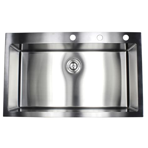 Single Bowl Kitchen Sink Top Mount 36 Inch Top Mount Drop In Stainless Steel Single Bowl Kitchen Sink 15mm Radius Design