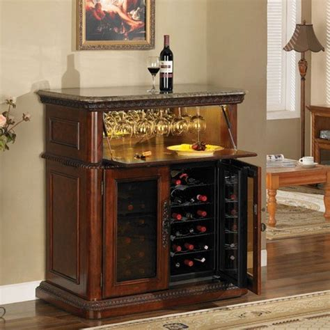 Wine Cabinet Bar Furniture by Rutherford 36 Bottle Wine Cabinet Modern Wine And Bar