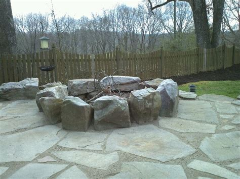 build pit limestone pit with flagstone using gator dust joint filler