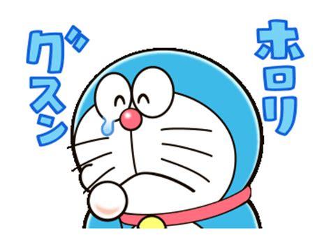Sprei Doraemon Line No 3 No 4 Single line official stickers doraemon animated onomatopoeia exle with gif animation
