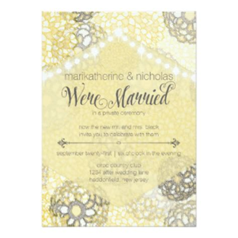 invitations for wedding reception months after after wedding invitations announcements zazzle