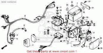 Honda Fourtrax Parts Honda Trx125 Fourtrax 125 1987 Usa Wire Harness