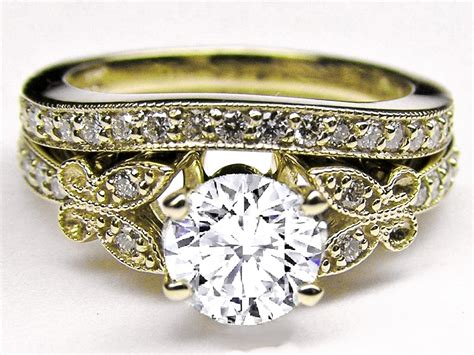 antique yellow gold engagement rings wedding promise