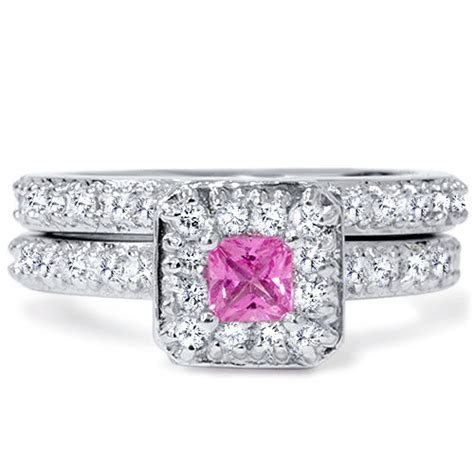 princess cut pink sapphire engagement 1 31ct by