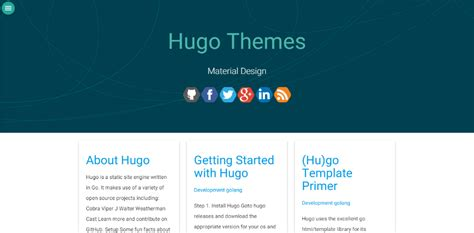 hugo themes blog hugo中文文档