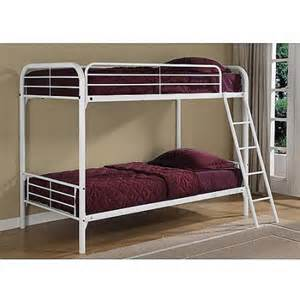 Metal Bunk Beds Walmart Dorel Metal White Bunk Bed With 2 Mattresses Walmart