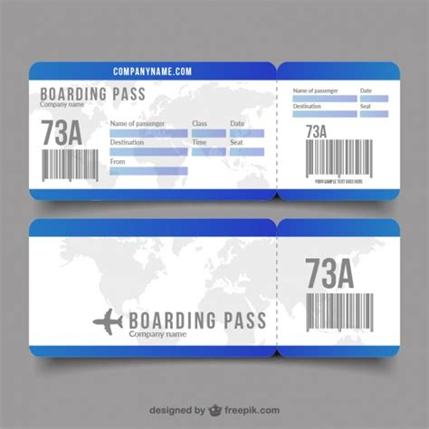 boarding pass flat boarding pass with decorative world map vector free
