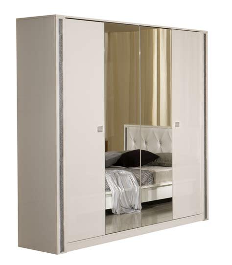 armoire suspendue chambre armoire tess chambre a coucher blanc brillant