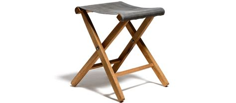 Folding Stool Waxed Canvas Oak Folding Stool Kaufmann Mercantile