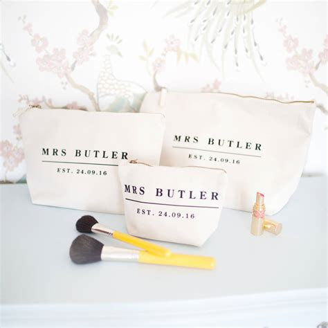 Wedding Date by Personalised Wedding Date Make Up Wash Bag Set By