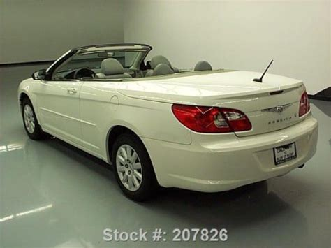 how it works cars 2008 chrysler sebring electronic toll collection find used 2008 chrysler sebring lx convertible cruise control 41k texas direct auto in stafford