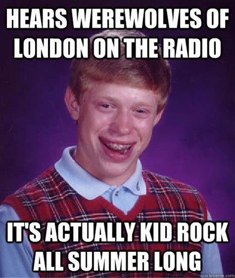 Rock Baby Meme - hears werewolves of london on the radio it s actually kid