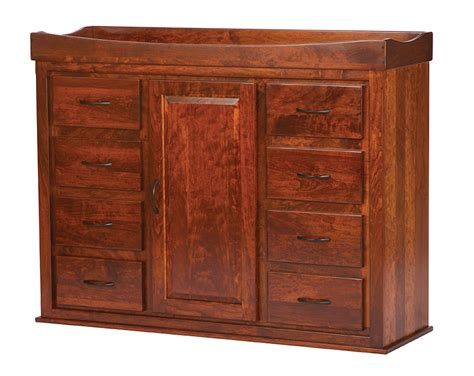 Convertible Changing Table Dresser Convertible Door Chest Changing Table Amish Traditions Wv