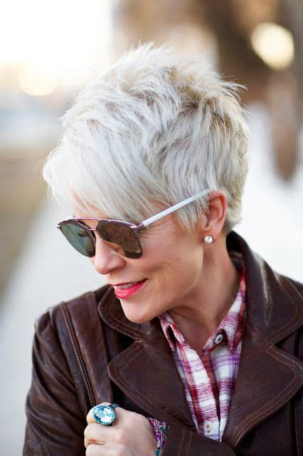funky hair color ideas for older women best 20 short gray hair ideas on pinterest grey pixie