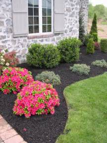 small bushes for landscaping diy black synthetic mulch garden