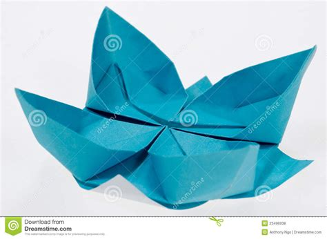 Paper Folding Lotus - origami paper folding lotus stock photo image 23496938