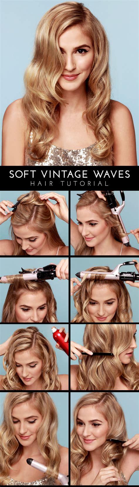 vintage hairstyles curling iron lulu s how to soft vintage waves hair tutorial lulus