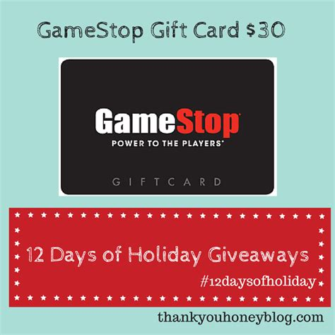 Game Stop Gift Cards - gamestop gift card giveaway thank you honey