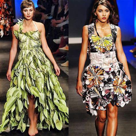 vestidos hechos con materiales reciclados un blog verde el reciclaje fashion