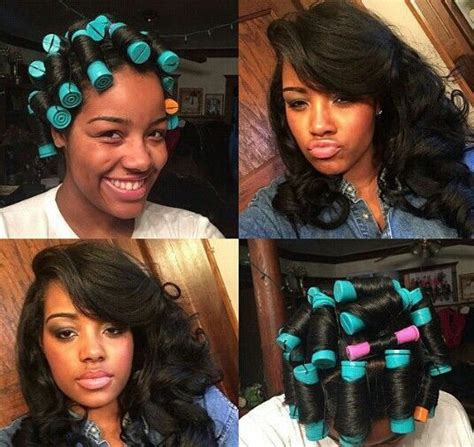 soft wavy curls with hot rollers for long hair short see what roller setting your extentions can do give