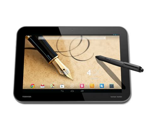 android tablet with stylus toshiba announces new 10 quot tablets excite excite pro with tegra 4 and 2560x1600 resolution