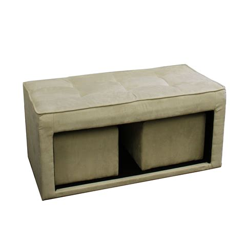 ottoman with seating ore international 16 5 inch storage ottoman with hidden