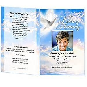 Funeral Program Templates Publisher by Peace Funeral Program Template Microsoft Word