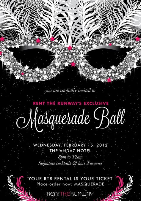 masquerade invitation template the world s catalog of ideas