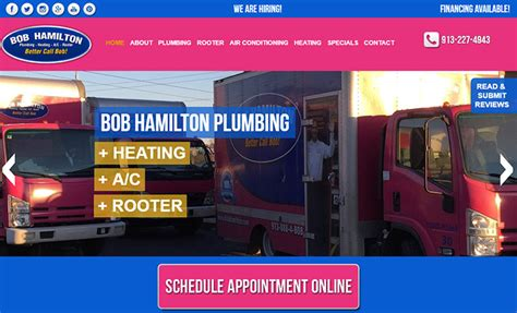 Hamilton Plumbing by 100 Plumbing Websites For Design Inspiration
