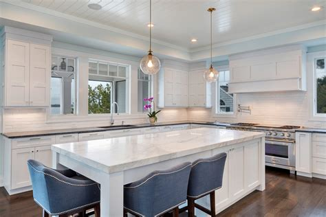 kitchen islands peninsulas design line kitchens in sea