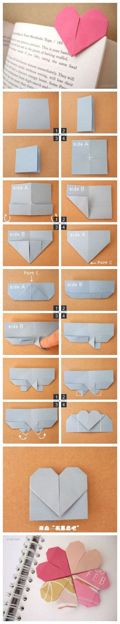 Origami Bookmark Tutorial - 17 images about origami on bookmarks