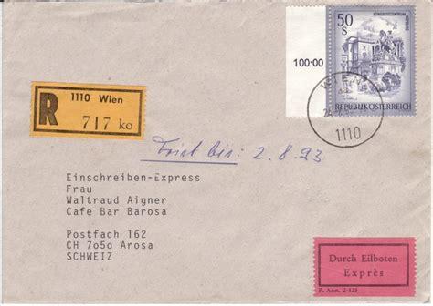 Porto Brief Schweiz Oesterreich Sch 246 Nes 214 Sterreich Seite 3