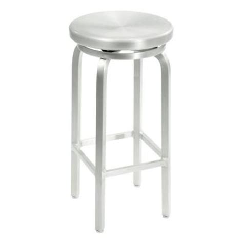 Brushed Aluminum Counter Stools by Home Decorators Collection Melanie Brushed Aluminum Swivel