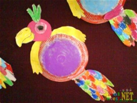 paper plate parrot craft parrot craft idea for crafts and worksheets for
