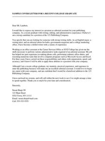 sample cover letter for a recent college graduate r 233 sum 233