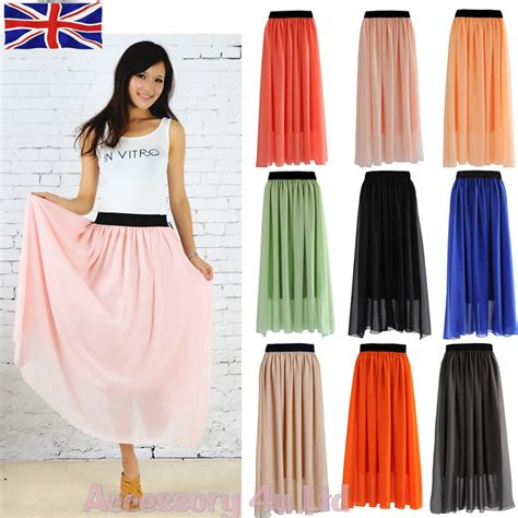 new elastic waist band pleated chiffon