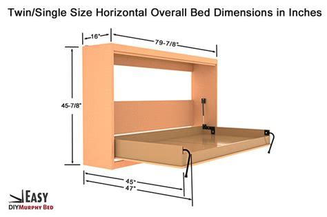 twin size murphy bed plans 1000 ideas about full size murphy bed on pinterest