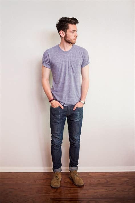 mens fashion desert boots simple denim desert boots fashion t shirt