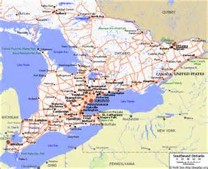 ontario canada road map southeast ontario travel maps visitor information