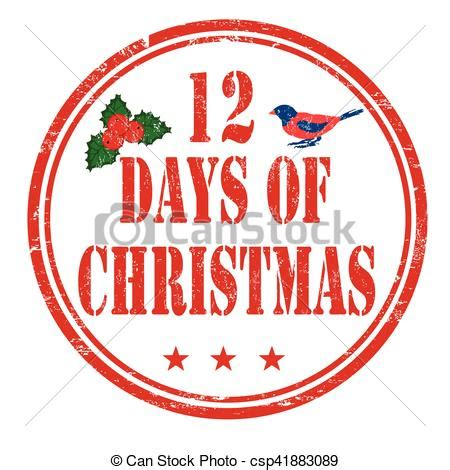 12 days of rubber sts vector of 12 days of sign or st 12 days of