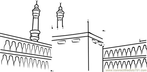 printable pictures kaaba coloring pages of the kaba in mecca coloring pages