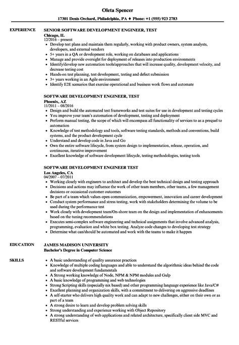 software test engineer resume samples velvet jobs